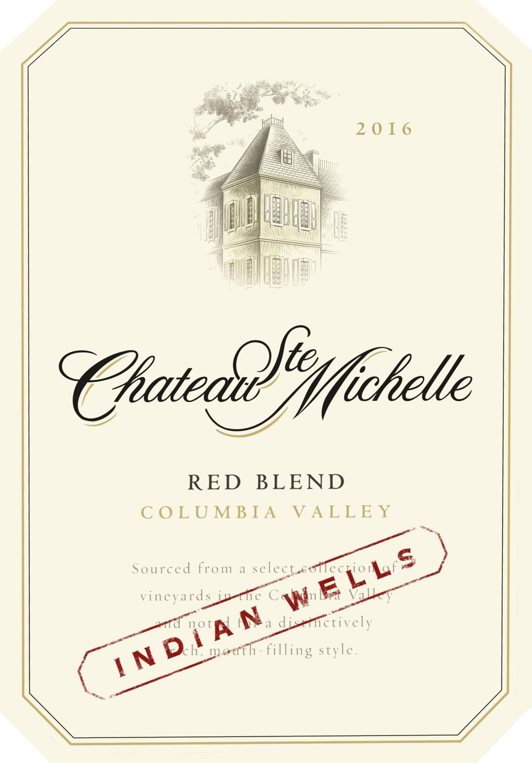 Chateau Ste. Michelle Indian Wells Red Blend 2016 Front Label
