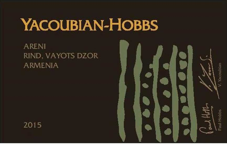 Yacoubian-Hobbs Red Areni 2015 Front Label