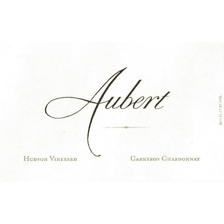 Aubert Hudson Vineyard Chardonnay 2017  Front Label