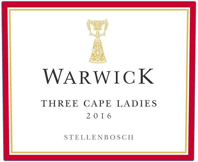 Warwick Estate Three Cape Ladies 2016  Front Label