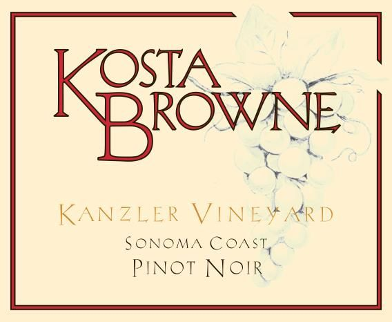 Kosta Browne Kanzler Vineyard Pinot Noir 2016 Front Label