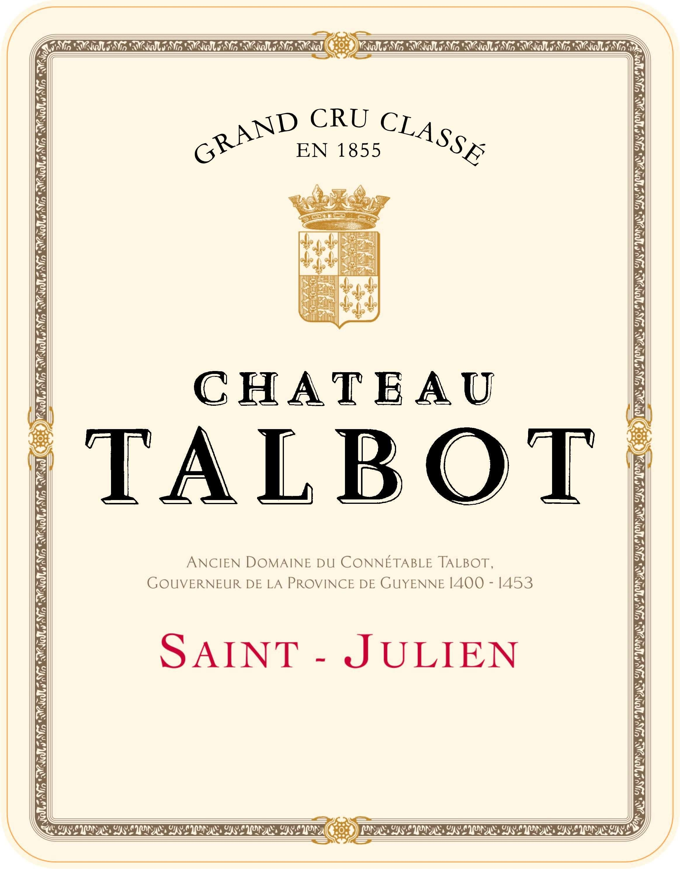 Chateau Talbot (Futures Pre-Sale) 2019  Front Label