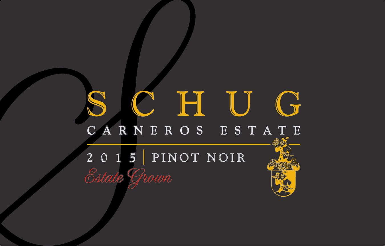 Schug Carneros Estate Grown Pinot Noir 2015  Front Label