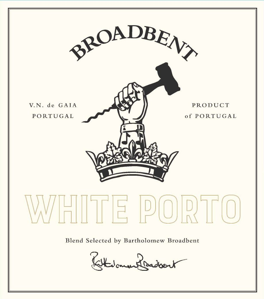 Broadbent White Port  Front Label
