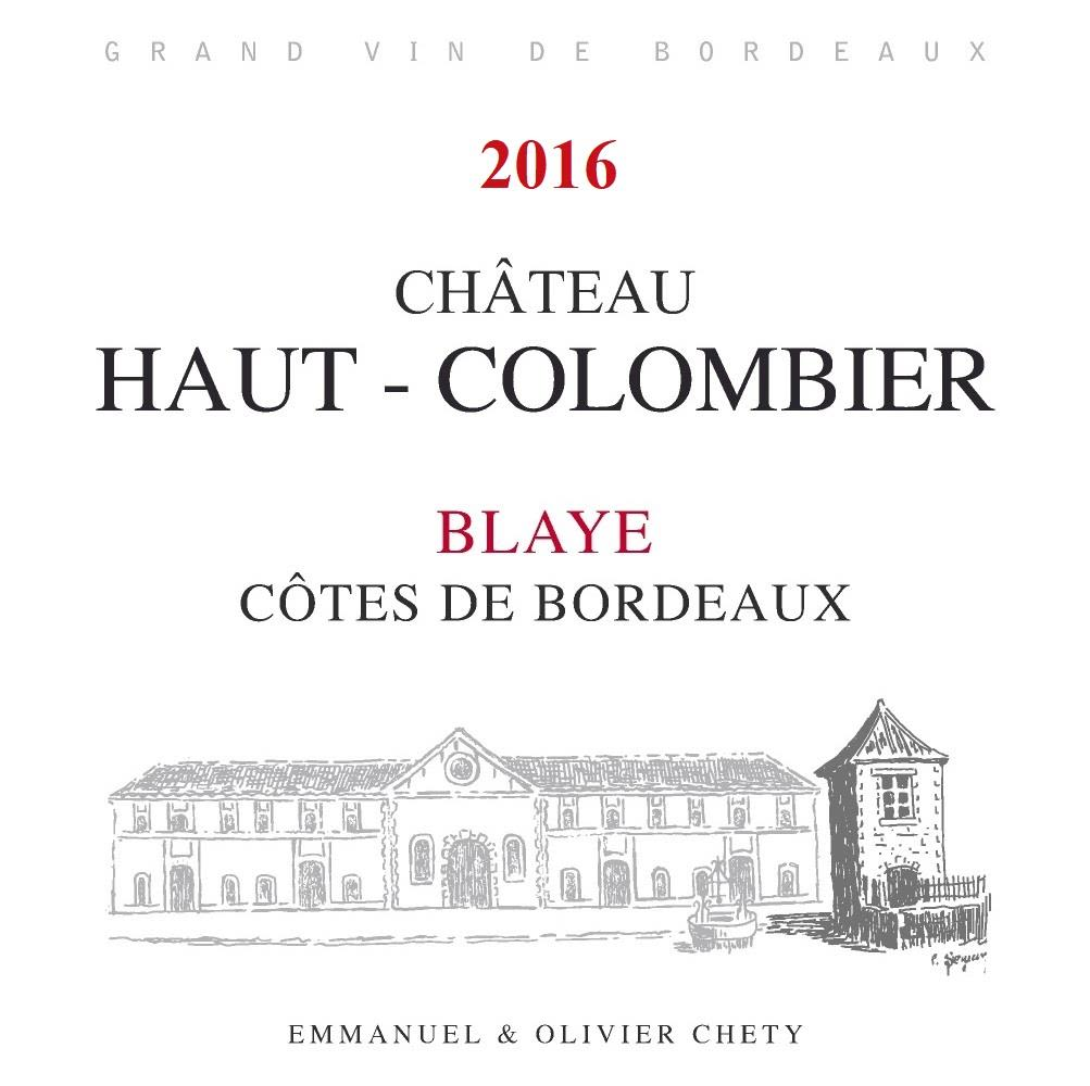 Chateau Haut-Colombier  2016  Front Label