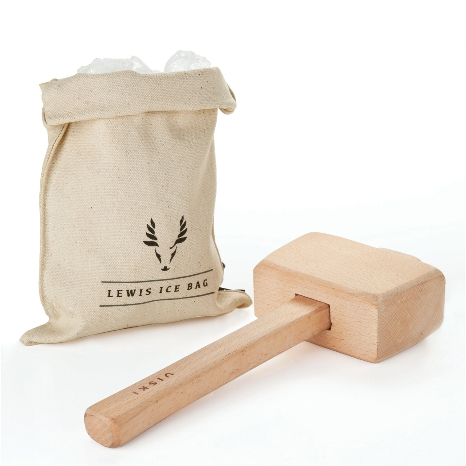 wine.com Viski Professional Lewis Ice Bag and Mallet  Gift Product Image