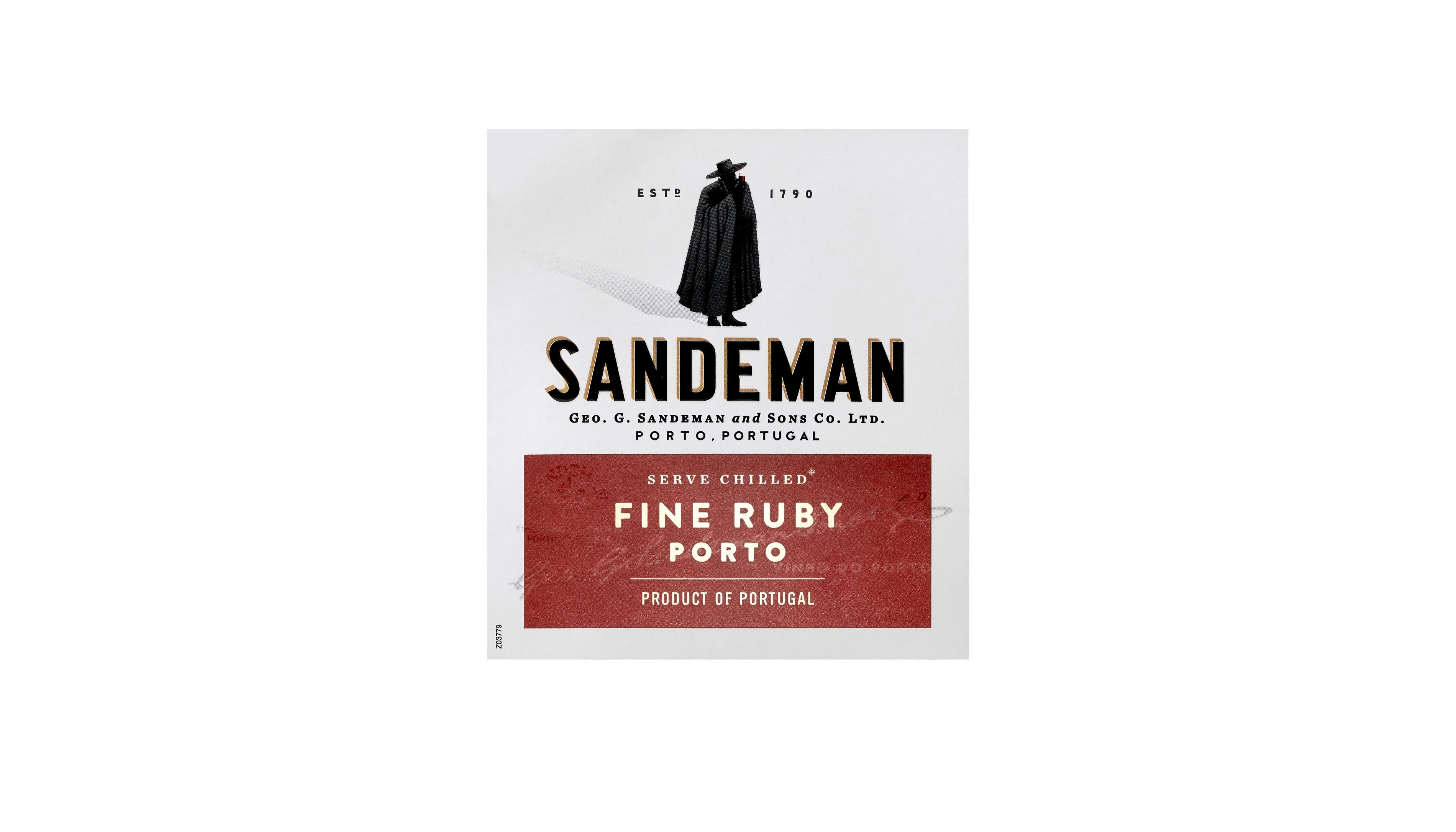 Sandeman Fine Ruby Port  Front Label
