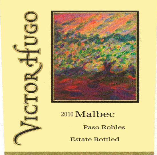 Victor Hugo Winery Malbec 2010  Front Label