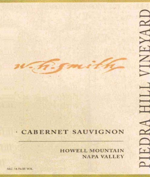W.H. Smith Piedra Hill Vineyard Bronze Label Cabernet Sauvignon 2009  Front Label