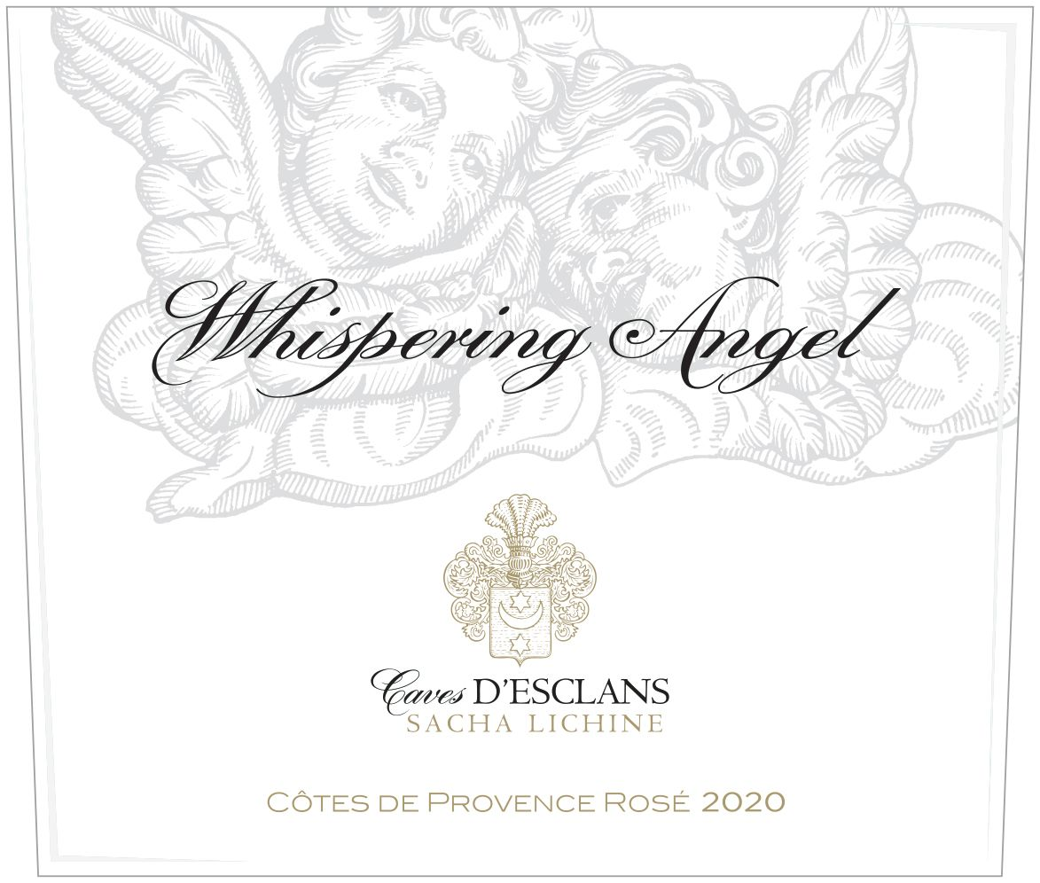 Chateau d'Esclans Whispering Angel Rose 2020  Front Label