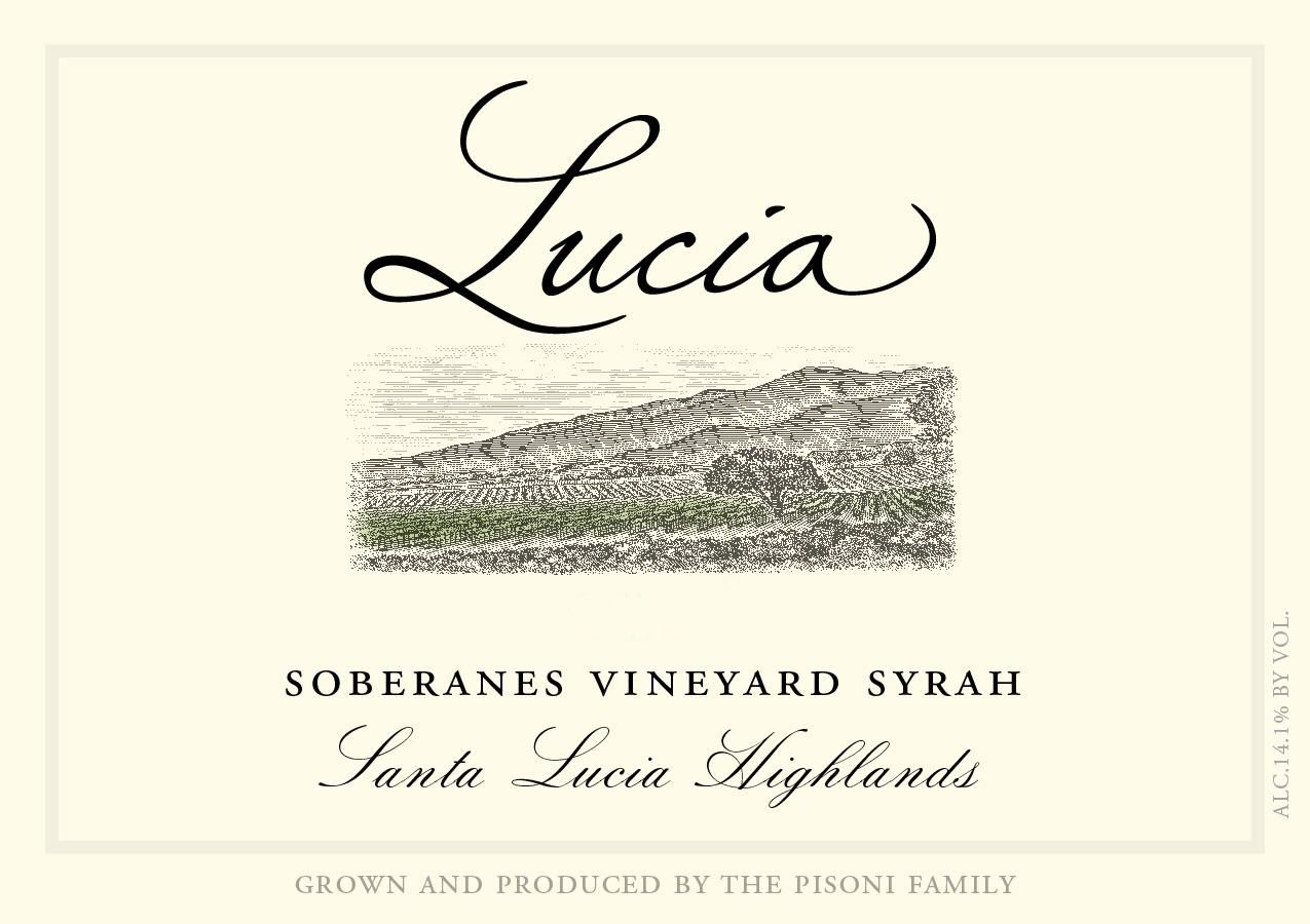 Lucia Vineyards Soberanes Vineyard Syrah 2017  Front Label