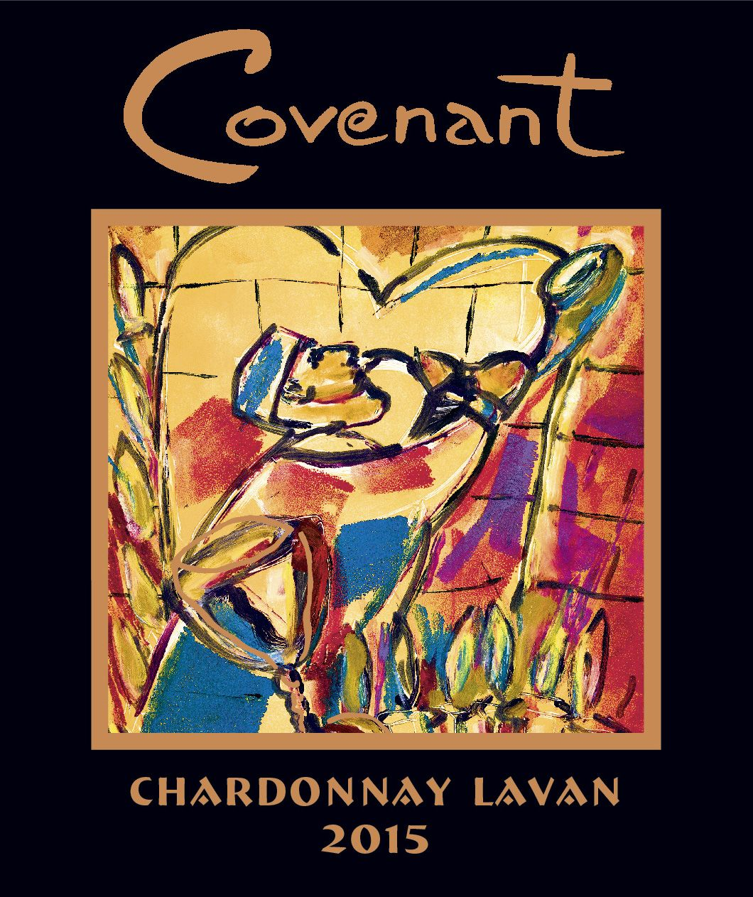 Covenant Lavan Sonoma Mountain Chardonnay (OU Kosher) 2015 Front Label
