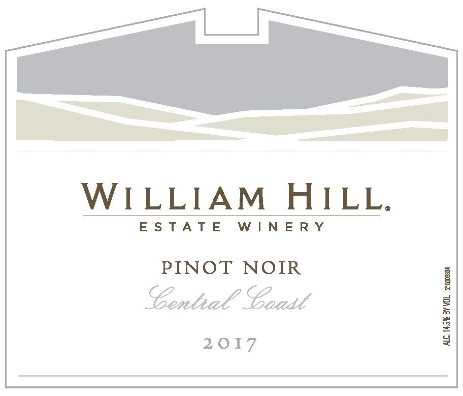 William Hill Pinot Noir 2017  Front Label