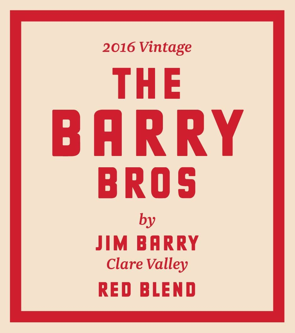 Jim Barry The Barry Bros Red Blend 2016 Front Label