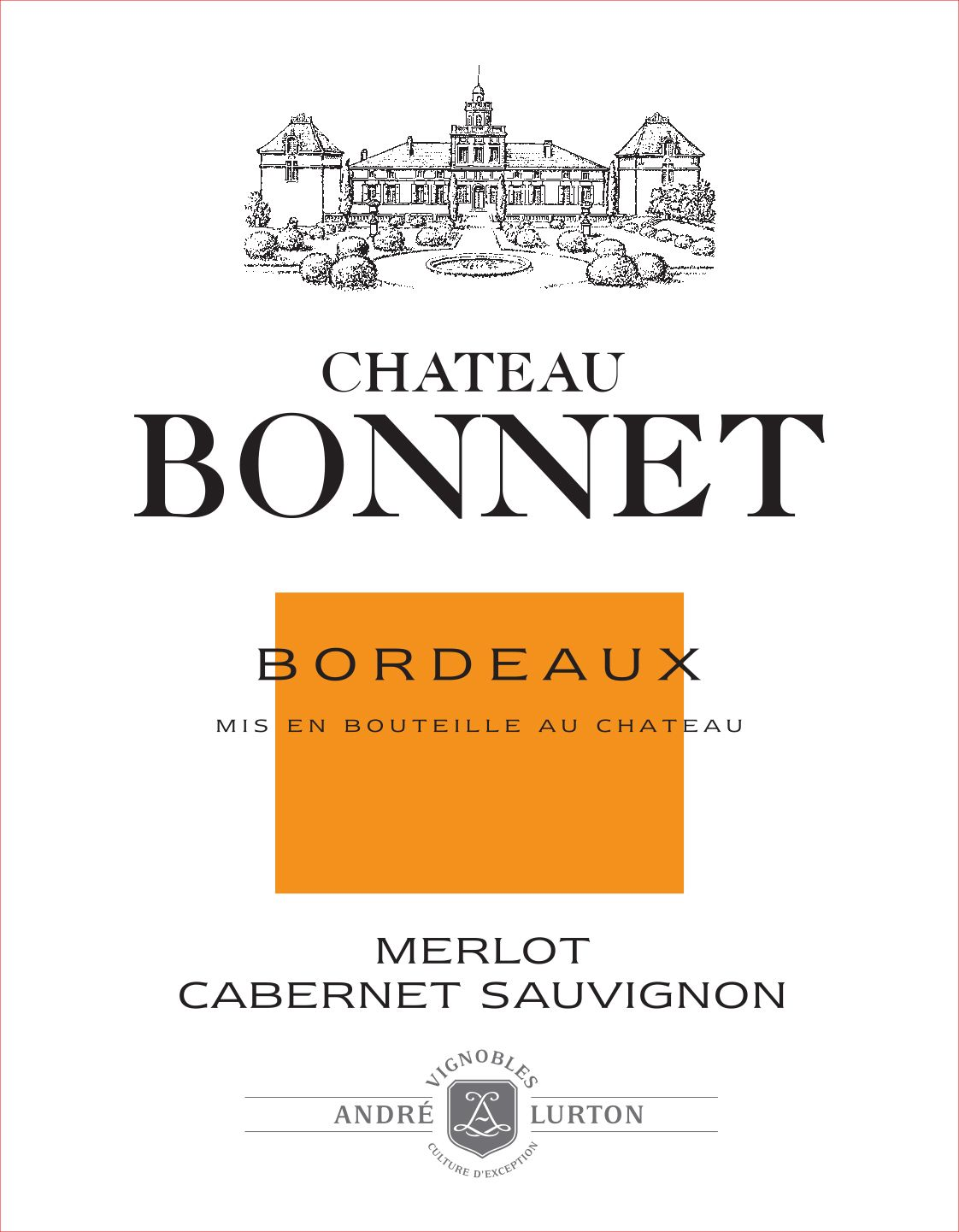 Chateau Bonnet Rouge 2015  Front Label