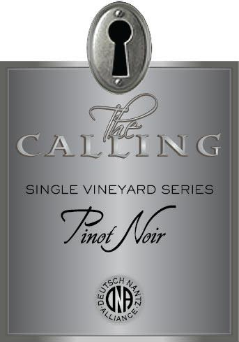 The Calling Fox Den Pinot Noir 2018  Front Label