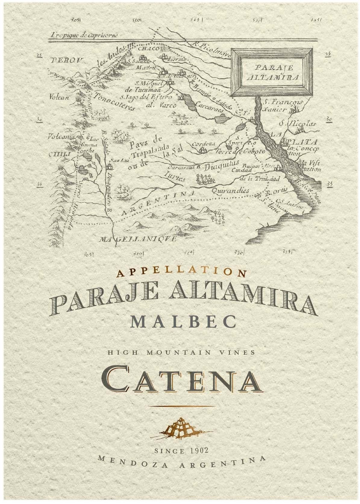 Catena Appellation Paraje Altamira Malbec 2018  Front Label