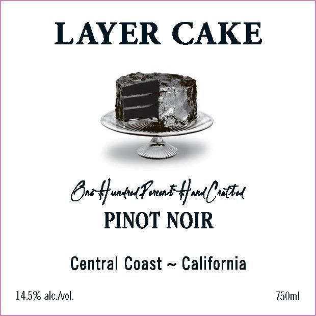 Layer Cake Pinot Noir 2018  Front Label