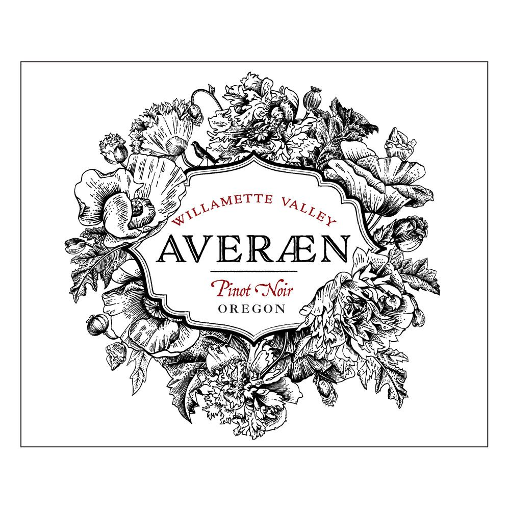 Averaen Willamette Valley Pinot Noir 2018  Front Label