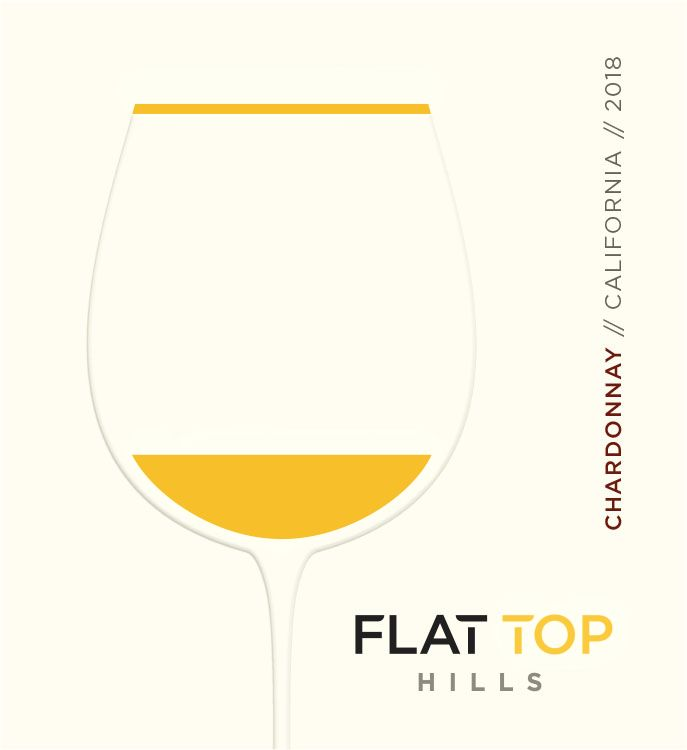 Flat Top Hills Chardonnay 2018  Front Label
