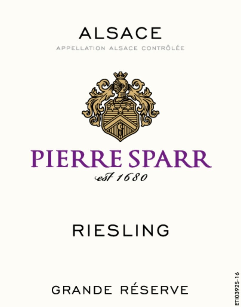 Pierre Sparr Riesling 2018  Front Label