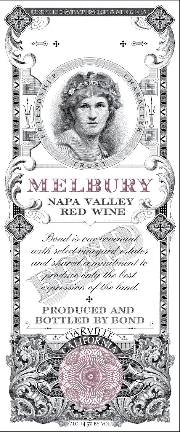 Bond Melbury 2003  Front Label