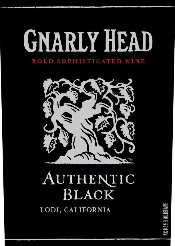 Gnarly Head Authentic Black Red Blend 2016 Front Label