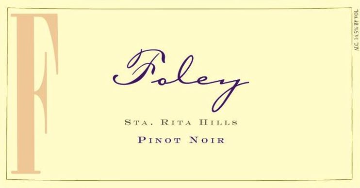Foley Estate Winery Sta. Rita Hills Pinot Noir 2017  Front Label