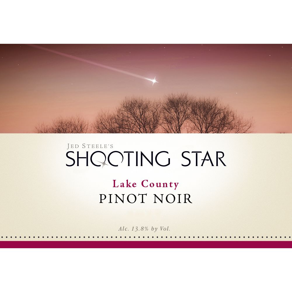 Steele Shooting Star Pinot Noir 2016  Front Label