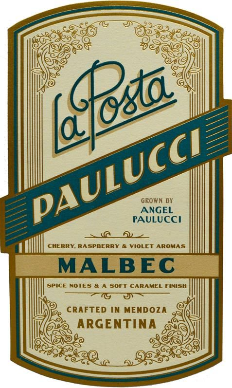 La Posta Angel Paulucci Vineyard Malbec 2018  Front Label