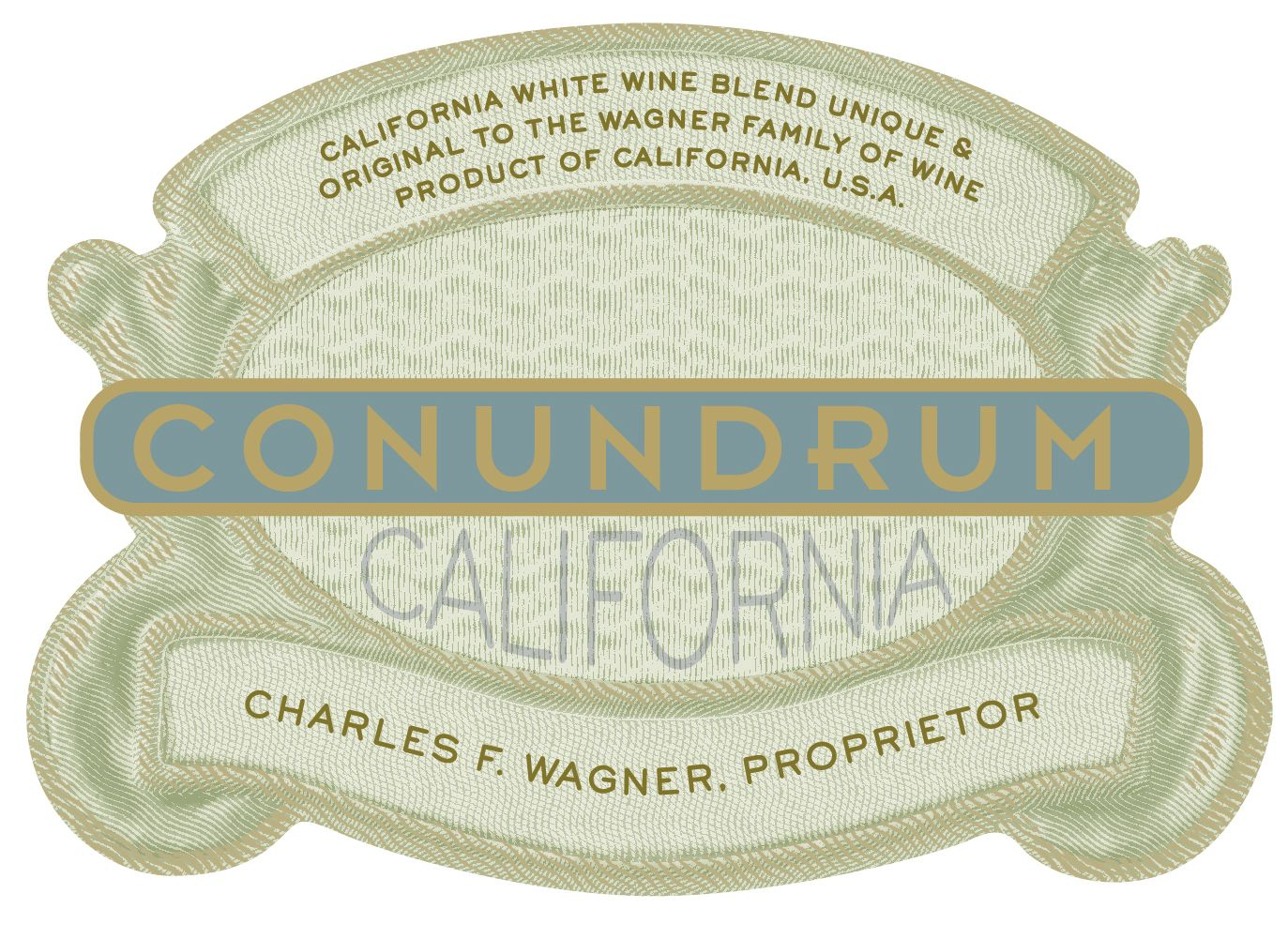 Conundrum White Blend  Front Label