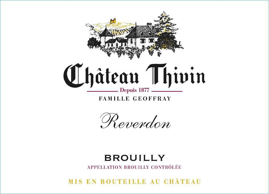 Chateau Thivin Brouilly Reverdon 2018  Front Label
