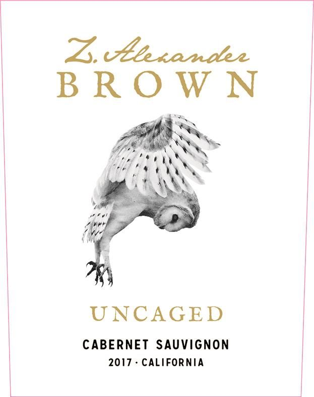 Z. Alexander Brown Uncaged Cabernet Sauvignon 2017 Front Label