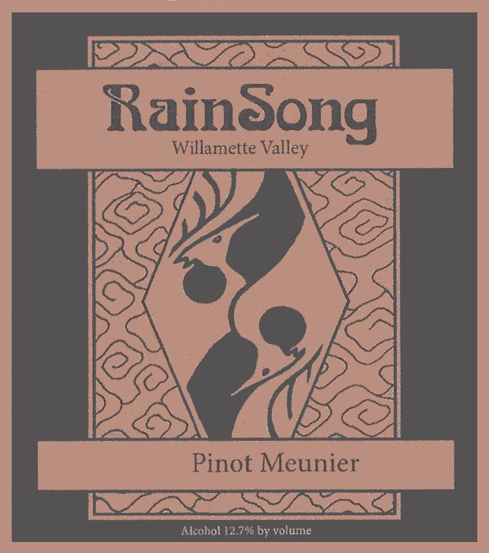 RainSong Winery Pinot Meunier 2011  Front Label