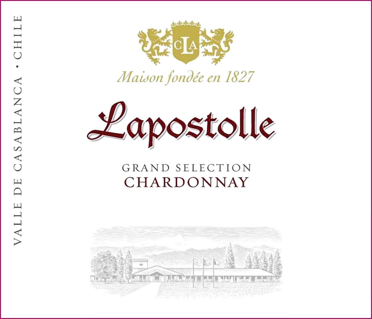 Lapostolle Grand Selection Chardonnay 2018  Front Label