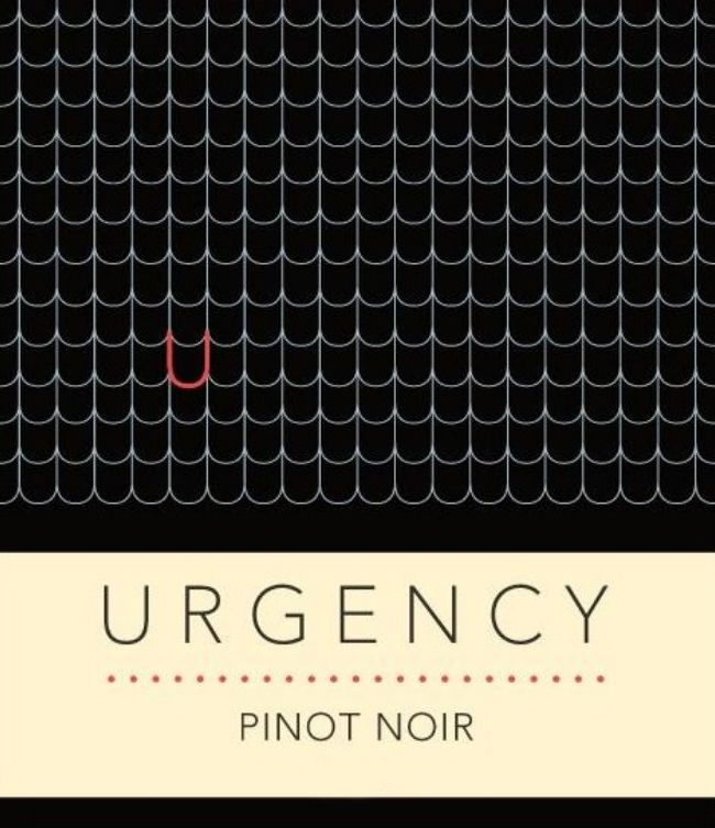 Urgency Pinot Noir 2019  Front Label