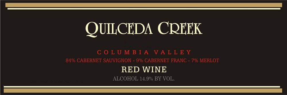 Quilceda Creek Columbia Valley Red 2010  Front Label