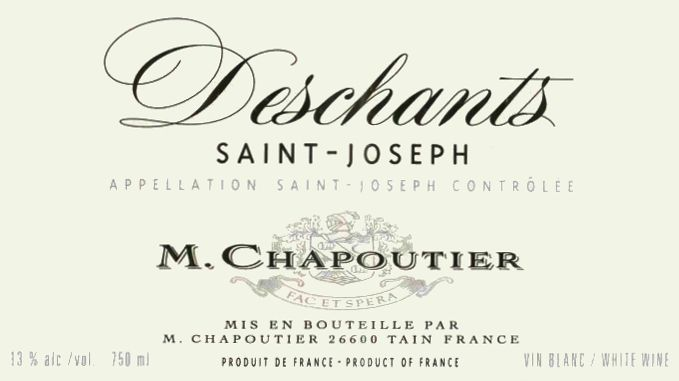 M. Chapoutier Saint-Joseph Deschants Blanc 2004  Front Label
