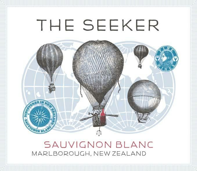 The Seeker Sauvignon Blanc 2019  Front Label