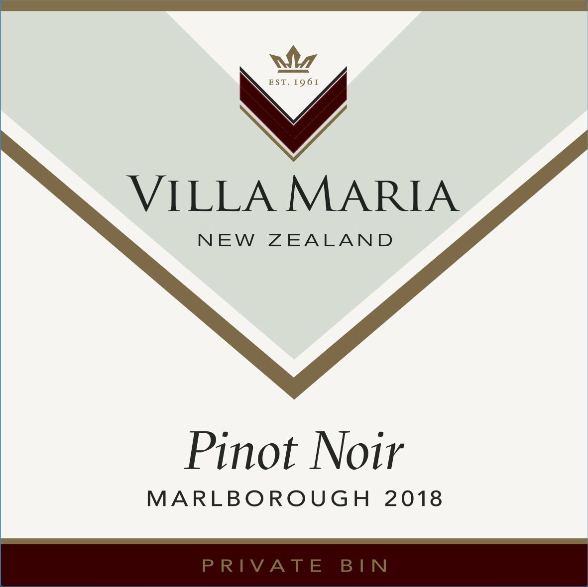 Villa Maria Private Bin Pinot Noir 2019  Front Label
