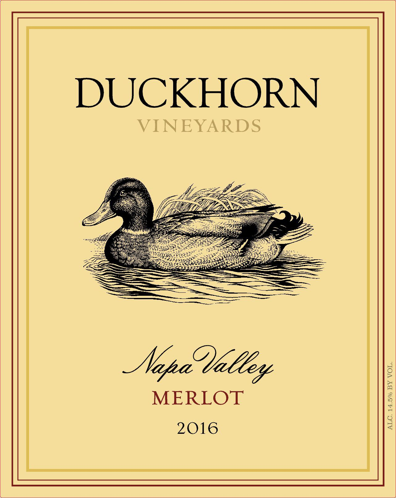Duckhorn Napa Valley Merlot (3 Liter Bottle) 2016  Front Label