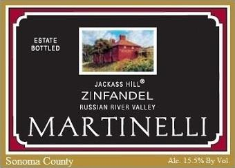 Martinelli Jackass Hill Zinfandel 2017  Front Label