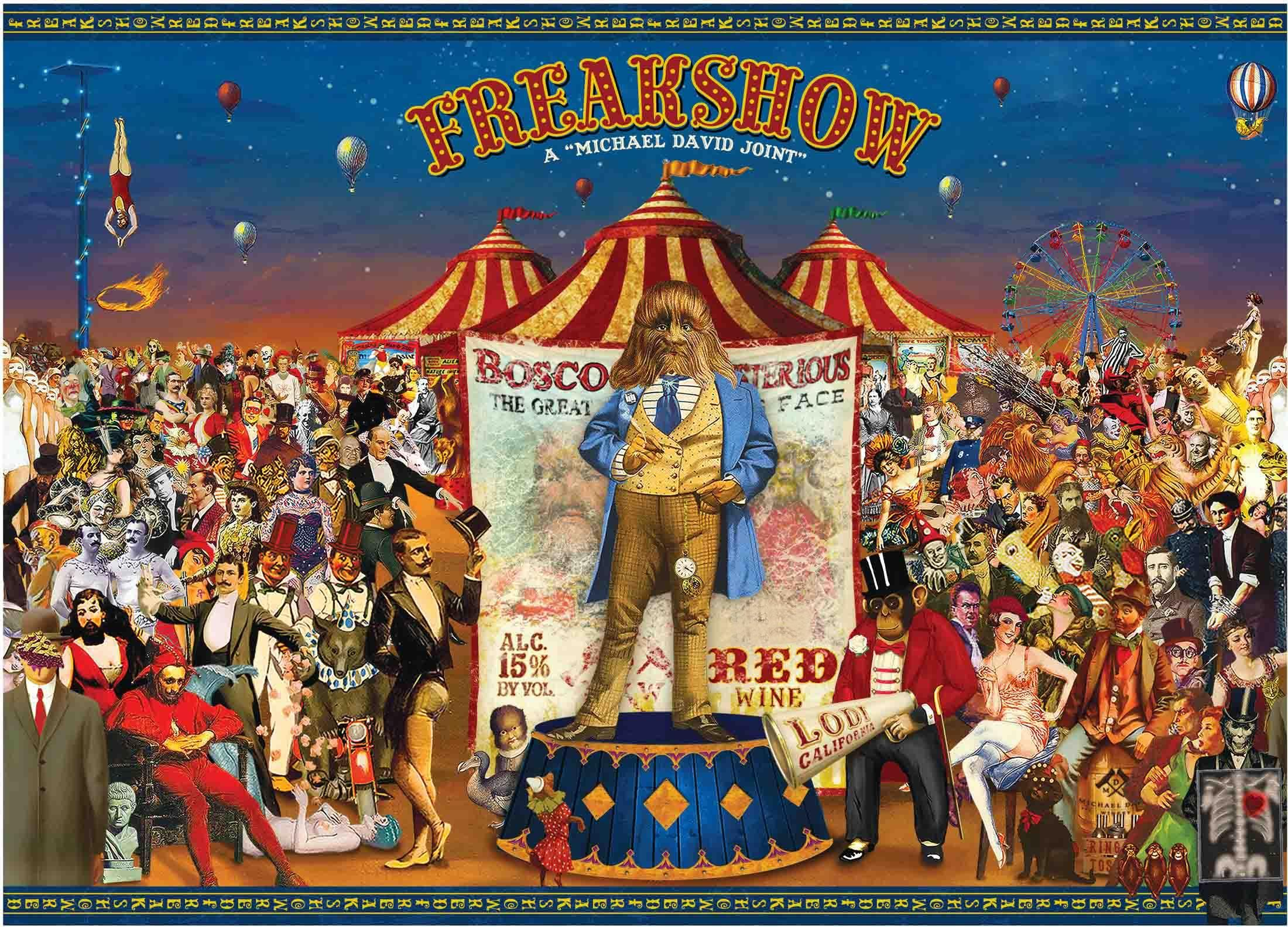Michael David Winery Freakshow Red Blend 2017  Front Label