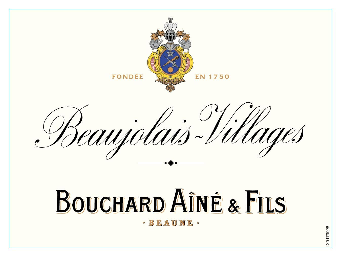 Bouchard Aine & Fils Beaujolais Villages 2018  Front Label