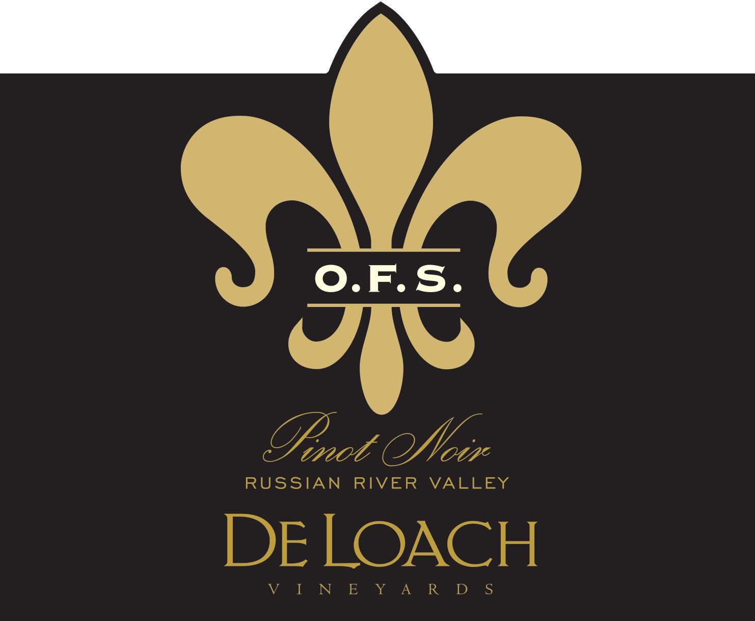 DeLoach O.F.S. Pinot Noir 2017  Front Label