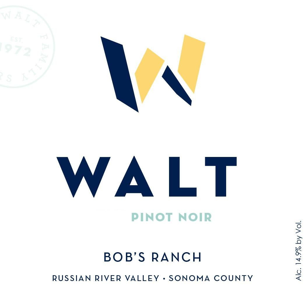 Walt Bob's Ranch Pinot Noir 2018  Front Label