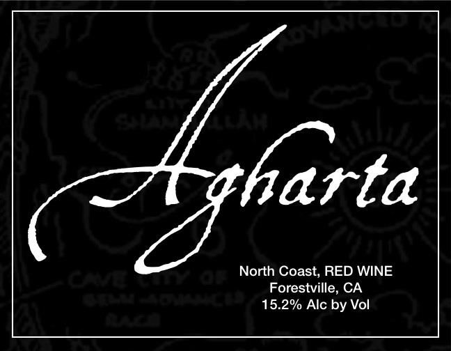Agharta Black Label Red 2011  Front Label