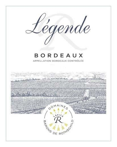 Domaines Barons de Rothschild Legende Bordeaux Blanc 2018  Front Label