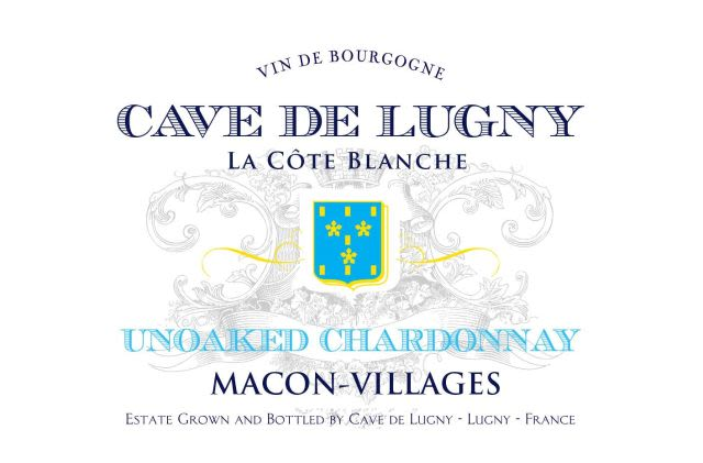 Cave de Lugny Macon Villages La Cote Blanche 2017  Front Label