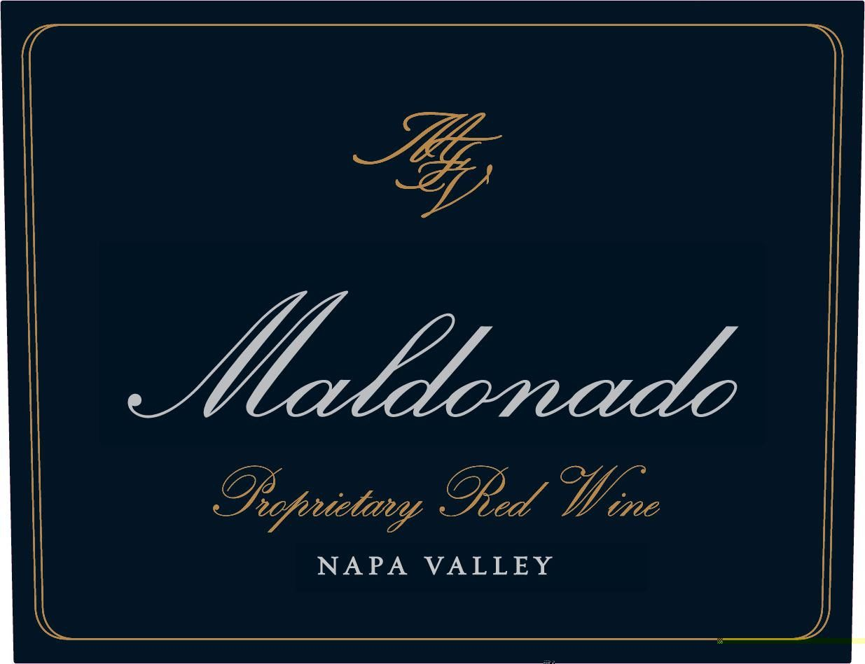Maldonado Proprietary Red Wine 2016  Front Label